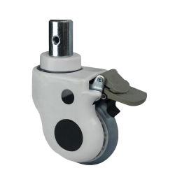 Dlpo Kapazitäts-3 Sicherheits-verschließbares Fußrollen-Verdoppelungrad der Zoll-Schwenker-Fußrollen-Rad-Feuergebühren70kg