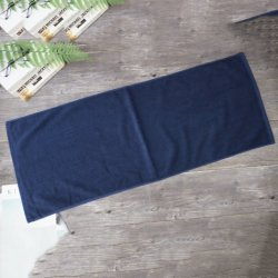 Super Cheap Custom coton ordinaire Salle de Gym Fitness Serviette Serviette de bain bleu foncé