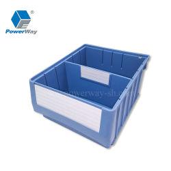 Cajón de plástico apilables industrial para el almacenamiento de piezas de almacén