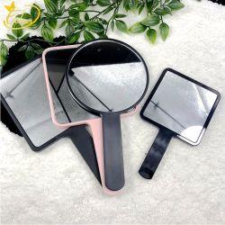 Пластмассовые ручки с одной стороны портативных зеркало для макияжа индивидуальная печать логотипа