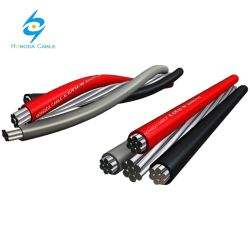 Cabo Quad Multiplexado Aluminio 0.6/1 Kv Cable 3X1X70+70 mm2