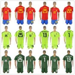 Het Rode Voetbal Jersey van het Huis van Spanje 2018 Uniformen van de Voetbal van de Kop van de Wereld