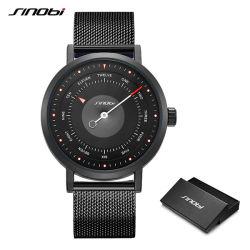 腕時計の人のSinobiのブランドは創造的な人のスポーツの腕時計男性用水晶時計の人の偶然の軍の防水腕時計Relogioを回す