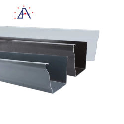 مواد البناء المعدنية الألوان ألومنيوم مطلي بطبقة من الأكسيد جutters المطر