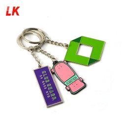 カスタムロゴはリンク・チェーンが付いている鋳造物の金属のKeychainのキーホルダーを停止する