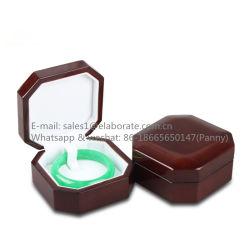 Acabamento brilhante de alta joalharia em madeira de cerejeira Bracelete Bangle/Caixa de oferta