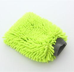 El color verde 20x30cm Calidad Premium Scratch-Free Chenilla Guante microfibra Lavado de coches coche detallando el guante
