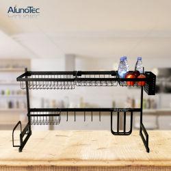 Acero Inoxidable Negro 85cm plato receptor titular de la cocina de secado del organizador estante estante vegetal