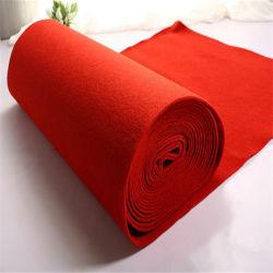 Alfombra de Exterior de poliéster /Llanura Exhibition Carpet sentía por evento/aguja Non-Skip rollos de fieltro perforada.
