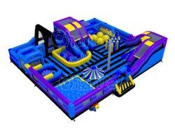 Синий для использования внутри помещений игровая площадка надувные развлечений города развлечений оборудование Chob1244