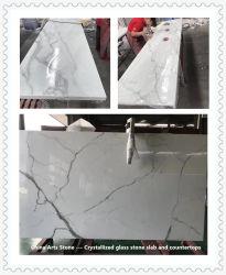 Mármore Branco Calacatta Artificial Nanoglass pedra para bancada, nenhum direito anti-dumping para o mercado dos EUA