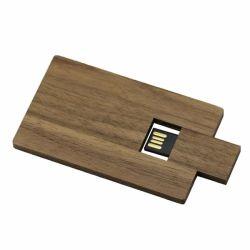 Madeira de promoção do cartão de crédito memória USB para Unidade de Memória Flash 64GB, 16GB Pen Stick de madeira personalizada de logotipo de gravação de disco U pendrive