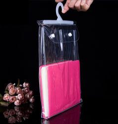Bouton de crochet de suspension en plastique de gros sac pour le sous-vêtements de confection de vêtements à l'emballage