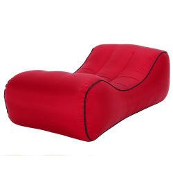 パラシュートの物質的で不精な屋外の膨脹可能なベッドのFoldable携帯用膨脹可能なソファー