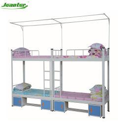 Einzelnes Bett-Metallplattform-Unterseiten-Hochleistungsstahllatte-Stützeinfache Montage-Stahlbett-Wohnungs-Bett