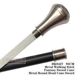 L'épée de canne à tête ronde de Métal Métal Bâton de marche 93cm HK8427