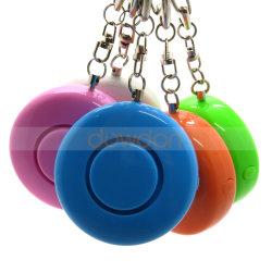 Il multi colore ha arrotondato ad alta voce l'allarme personale di dB di modo 130 con l'OEM di sostegno del tasto dell'anello chiave LED
