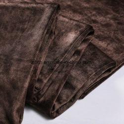 2020 Venda por grosso de têxteis lar Polyesters Burnout Tecido de veludo para sofá