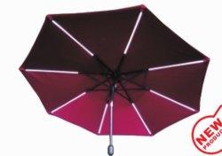 Оптовая торговля стальных квадратных большой открытый сад зонтик (U1013-LED)