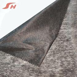 La fabbrica fornisce l'adesivo non tessuto fusibile 100% del poliestere che scrive tra riga e riga per i vestiti