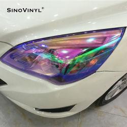 Motocicletas Camaleón cambiar el color de tinte faro de la película de vinilo de coche
