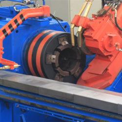 232mm de diâmetro do vaso de GNC máquina girando a quente