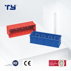Scatola di giunzione di BACCANO di PVC-U con la porta di giunzione sedici (STILE 118) per l'isolamento del Conduitsystem elettrico (JG - RED/BLUE)