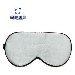 Ym213 자기 Eyemask 윤곽을 그린 실크 파란 정전을%s 실크 눈 잠 가면