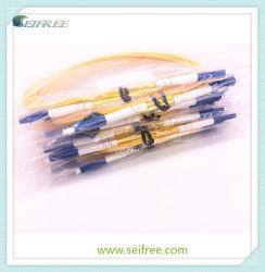 Cordon de brassage optique simplex Sm avec SC/UPC-LC/UPC câble 3 mm
