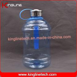 Plastic waterkan van 1000 ml, roestvrijstalen metalen dop (KL-8025C)