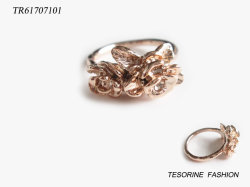 Conception unique de la Mode bijoux populaire Placage or bague en alliage de zinc