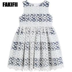 Venda por grosso American&estilo europeu desgaste do bebé Kids Menina Verão vestuário de malha listrado vestir as crianças para vestuário de algodão