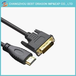 Plaqué or 24K DVI vers HDMI Câble DVI 24+1 mâle à 1,4 V HDMI câble 19p