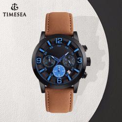 Horloge van de Hand van de Sporten van het Kwarts van mensen het Chrono met Riem 72162 van het Leer