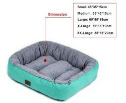 Chaise longue confortable lit doux chien lit Pet solide et de chien de couleur imprimée lit Lit Pet avec polaire en peluche