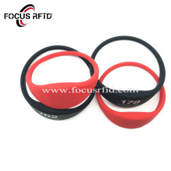 Cuotom Zahlungs-Silikon Wristand RFID der Rohstoff-entscheidendes QualitätsNFC Armband