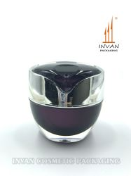Vaso di plastica della crema del vaso del vaso acrilico cosmetico unico di lusso del vaso 50g con la guarnizione di tiro della mano