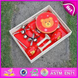 2015 giocattolo prescolare dello strumento musicale di Prefessional, strumenti musicali di legno, insieme di percussione, Tambourine, Maracas, Handbell W07A089