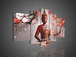 Peint main Bouddha Huile sur toile toile abstraite de l'art mural