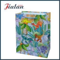 La conception de logo cheap Imprimé animal la vente en gros sac cadeau de papier personnalisé