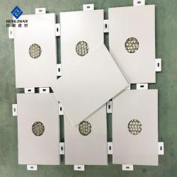 Textura de madera en forma de panal de aluminio paneles para muebles de las bisagras de puertas y ventanas