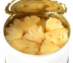 Les ananas en conserve