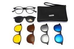 Ventes en gros TR90 Cadres polarisée unisexe lentille optique Clip magnétique sur des lunettes de soleil