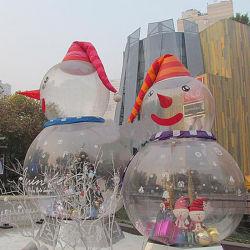 Producten van Kerstmis van de Sneeuwman van de douane de Opblaasbare