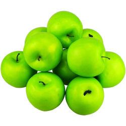 Simulación de 12pzas Apple falsos de frutas artificiales las manzanas verdes realista para la Navidad de la Casa Hogar Cocina Decoración Fotografía Boda