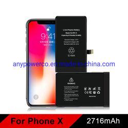 Téléphone mobile cellulaire Original Smart Phone batterie polymère lithium-ion 3.8V 2716mAh pour Apple iPhone x
