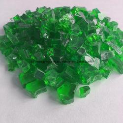 La Chine lustre en verre vert de gros diamants
