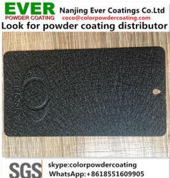 Thermostatoplastische schwarze lederne Effekt-Polyurethan-Puder-Lackierung