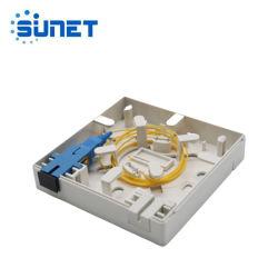 2 основных Sc FTTH оптоволоконный разъем панели управления оптоволоконный контакт распределительной коробке 86 типа информационные панели