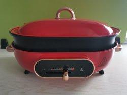 Graxa Multiuso fogão eléctrico 220-240 V 1500W 3.5L Hotpot com Frigideira e vapor
